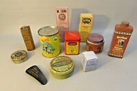 Vintage Tin Lot Advertising box  amazing set
