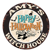 CHWH-0032 AMY'S WITCH HOUSE Tin Sign Halloween Decor Funny Gift