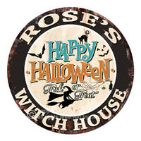 CHWH-0065 ROSE'S WITCH HOUSE Tin Sign Halloween Decor Funny Gift