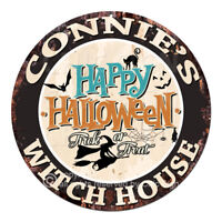 CHWH-0106 CONNIE'S WITCH HOUSE Tin Sign Halloween Decor Funny Gift
