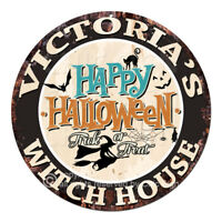 CHWH-0116 VICTORIA'S WITCH HOUSE Tin Sign Halloween Decor Funny Gift