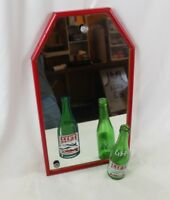 Vintage LIFT BEVERAGES Mirror with Frame w/ Matching Lift Bottle Advertising