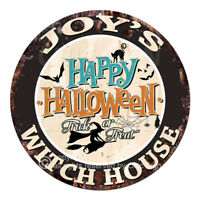 CHWH-0230 JOY'S WITCH HOUSE Tin Sign Halloween Decor Funny Gift