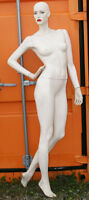 Vintage Patina-V Mannequin - Hand on Behind - Bright Red Lips