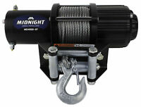 Viper Midnight 4500 lb ATV UTV Winch Kit with 50 feet Steel Cable