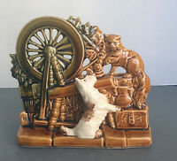 VINTAGE McCoy USA Pottery Planter Planter Vase SCOTTY DOG Spinning Wheel CAT