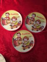 Vintage Campbell Kids 1994 Plates Set Of Three Campbell Soup