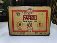 1960s VINTAGE FARGO NO. 751 LANTERN GAS MANTLES ADV. TIN BOX