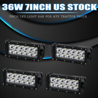 4x36W High Power LED Work Light Bar  Off-Road 4x4 Truck SUV For Jeep Pickup ATV