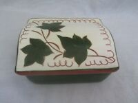 Stangl Pottery #3797 Cigarette Box Brown & Green Leaves