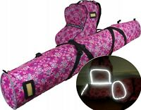 KIDS CHILDREN 130cm SKI and BOOTS CARRY SET of BAGS HOLDALL LUGGAGE REFLECTIVE