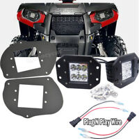 Fit Polaris ATV Sportsman 1000 850 570 RZR 800 900XP 24W LED Pod Headlight Kits