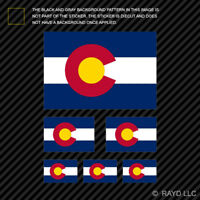 6 pcs Assorted Colorado State Flag Sticker Set Die Cut Decal CO Native