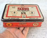 1960's VINTAGE FARGO NO. 751 LANTERN GAS MANTLES ADV. TIN BOX