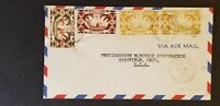 1948 Tahiti to Mansfield Ohio USA Westinghouse Advertising Multi Franking Cover