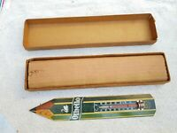 1930s VIntage Rare Swan Pencil Othello Pencil Shape Tin Thermometer Sign Germany