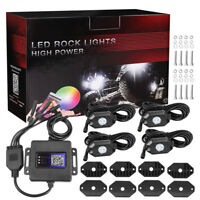 RGB LED Rock Light Wireless Bluetooth Music Offroad Truck ATV Multi-color 4-Pods