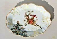 Williams Sonoma Twas the Night Before Christmas Oval Platter Reindeer NEW
