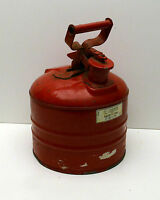 Vintage Gas Can Metal Safety Lid Type Red