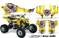 ATV Graphics Kit Quad Decal Wrap For Can-Am DS450 XMX XXC 2008-2016 EDHLK YELLOW