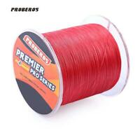 PROBEROS 500M Durable Colorful PE 4 Strands Monofilament Braided Fishing Line