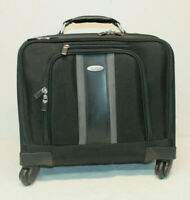 Samsonite Spinner Mobile Office Wheeled Laptop Briefcase in Black