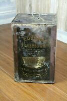 Vintage Eureka Harness Oil Square Can Standard Oil Co Advertising