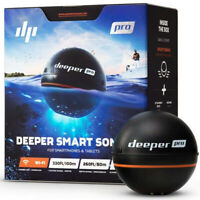 Deeper Smart Sonar PRO Wi-Fi Fish Finder w/ 260 Ft. Depth Range for Smartphone