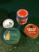 Group lot of antique advertising tin cans