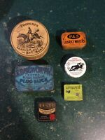 Group lot of antique advertising tins