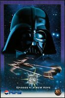 VERY RARE 1996 STAR WARS TRILOGY EPISODE 4 A NEW HOPE PEPSI POSTER DARTH VADER