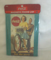 COCA COLA MAGNET COKE MAGNETIC PHONE LIST CLASSIC AD FOR THE PARTY NEW SEALED