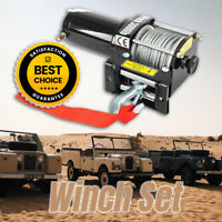 12V Electric Winch Kit for ATV and Small Vehicle that is stuck in mud, Wireless