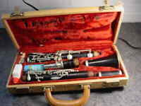 VTG. WOOD CLARINET LE BLANC NORMANDY MADE IN FRANCE SERIAL # 4934 VERY NICE!