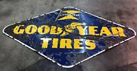 Original goodyear Single Sided Porcelain Pole Sign