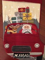 NWT Pottery Barn ~SANTA ROAD TRIP~ Embroidered Christmas STOCKING ~RUDOLPH~