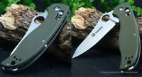 Ganzo 440C Steel Green G10 Folding Knife