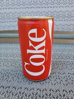 Sealed Empty 1980s Coca-Cola Coke can (rare collectible) Gold Top Silver Tab