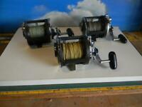 LOT OF 3 DAIWA SEALINE 47H  STAR DRAG LEVELWIND CONVENTIONAL FISHING REELS