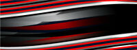 Abstract Red Stripes Graphic Wrap Decal Vinyl Motorcycle Bike ATV Car Scooter