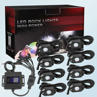 RGB LED Rock Light Multi-color Chasing Wireless Bluetooth Music ATV 4/6/8 Pods