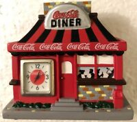 2003 Coca Cola Mini Clock Diner with people drinking coke New In Factory Box
