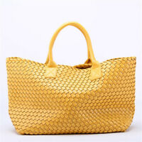2018 Women Double Woven Cabat Bag Casual Handbag Tote Handbag Super Star Bag