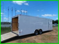 v nose 8.5x24 toy hauler motorcycle enclosed cargo atv car hauler  trailer New