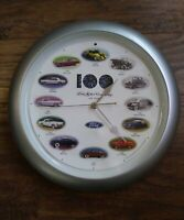 2003 Ford Motor Co 100 Years Wall Clock With Car Sounds With Cars 1914 thru 2003