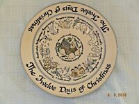 Louisville Stoneware Kentucky Twelve Days of Christmas Charger/Server