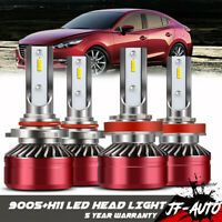 9005+H11 Combo LED Headlights High&Low Beam 6500K White 120W 26400LM High Power