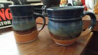 PAIR Hand Thrown Pottery ~ Coffee Cups / Mugs ~ Sunset Canyon Pottery