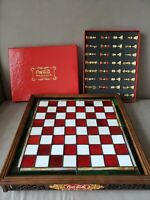 1996 FRANKLIN MINT COCA COLA COKE STAINED GLASS CHESS SET 24K GOLD PLATED