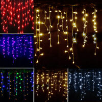 96 - 960 LED Fairy String Icicle Curtain Light Outdoor Christmas Decoration Lamp